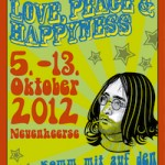 Plakat Juffi WBK 2012 - Love, Peace & Happyness